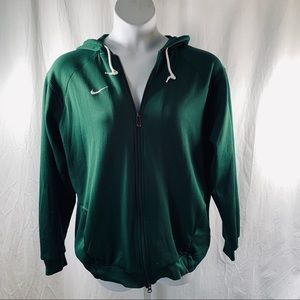 Nike Team Fit Dry Hoodie Sz XXL Forest Green